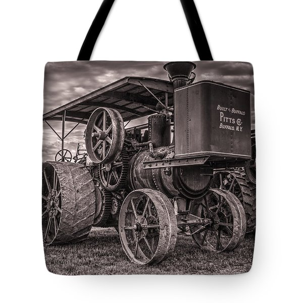 Buffalo Pitts Steam Traction Engine Tote Bag