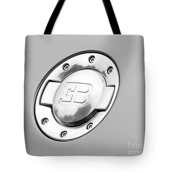 Tote Bag featuring the photograph Bugatti Fuel Cap by Matt Malloy