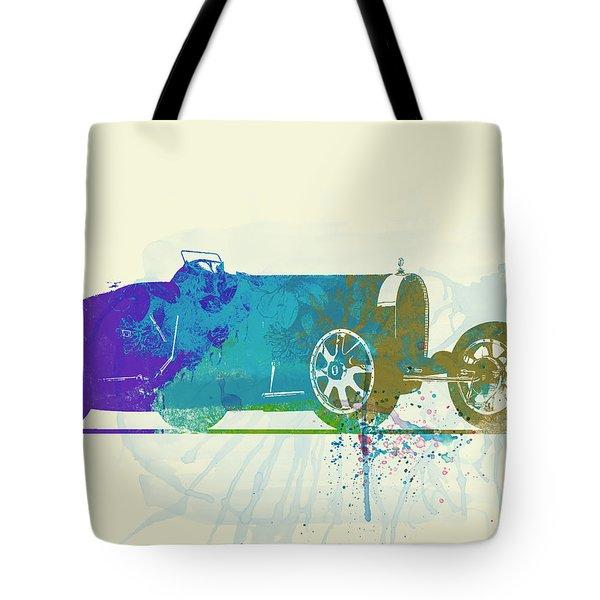 Bugatti Type 35 R Watercolor Tote Bag