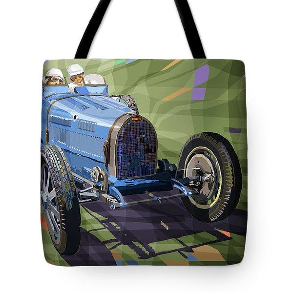 Bugatti Type 35 Tote Bag by Yuriy Shevchuk