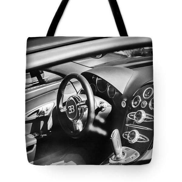 Bugatti Veyron Legend Steering Wheel -0484bw Tote Bag