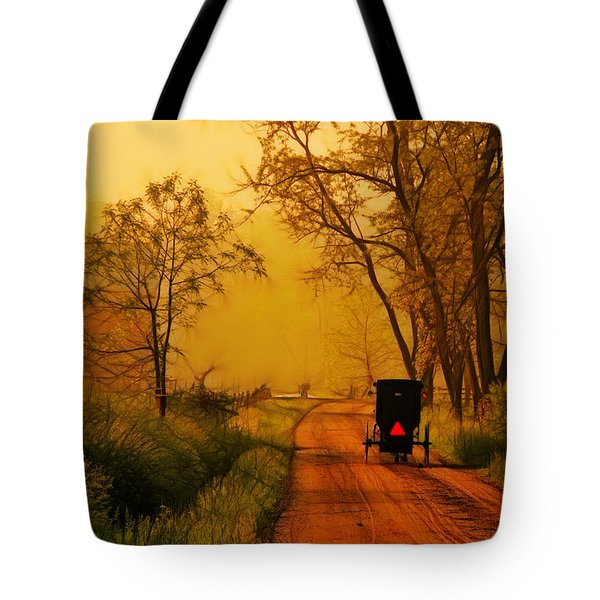 Buggy On A Sunday Morning Drive Batik Tote Bag by Laura James