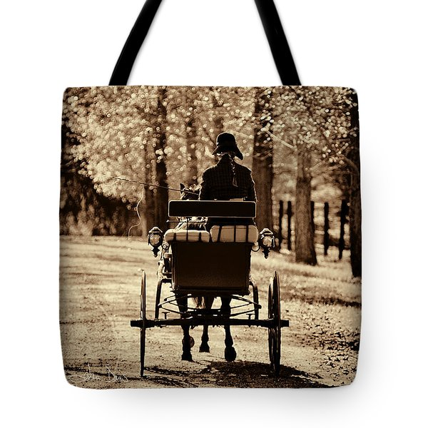 Buggy Ride Tote Bag by Joan Davis