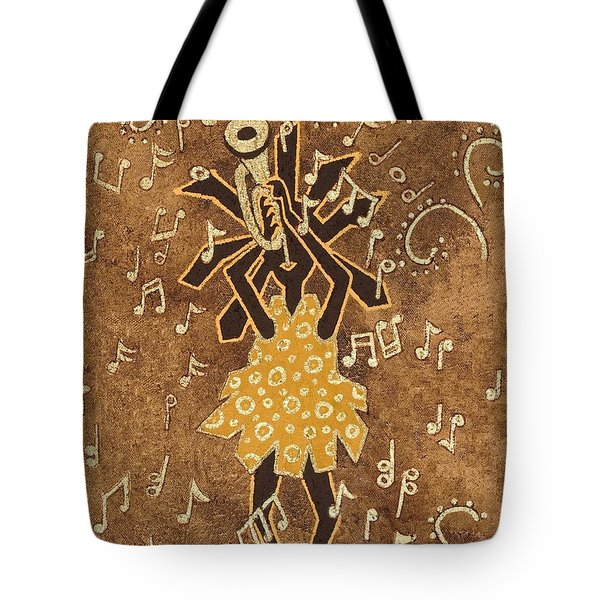 Bugle Player Tote Bag by Katherine Young-Beck