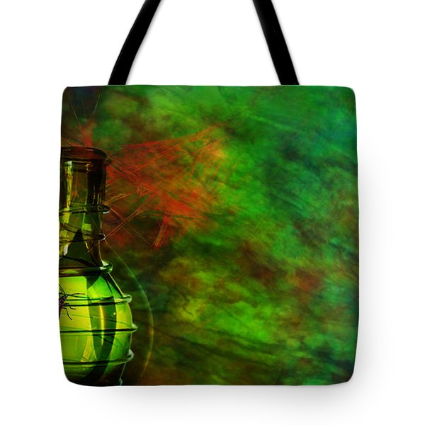 Tote Bag featuring the mixed media Bugs by Ally  White