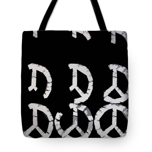 Build Up Peace Tote Bag by Michelle Calkins
