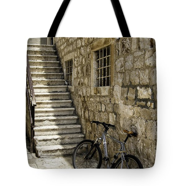 Building And Bike Tote Bag