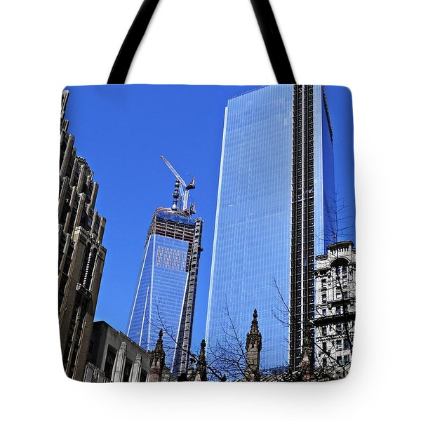 Building Freedom Tote Bag by Sarah Loft