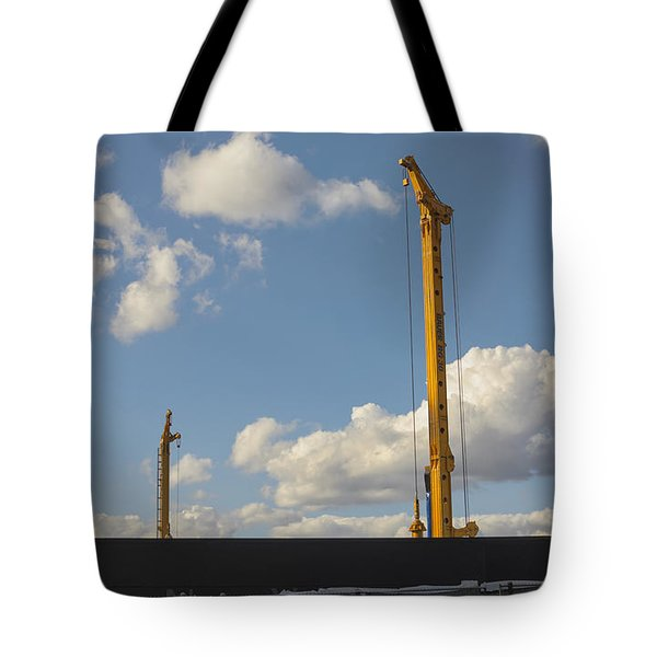 Tote Bag featuring the photograph Building On A Beautiful Day by Marianne Campolongo