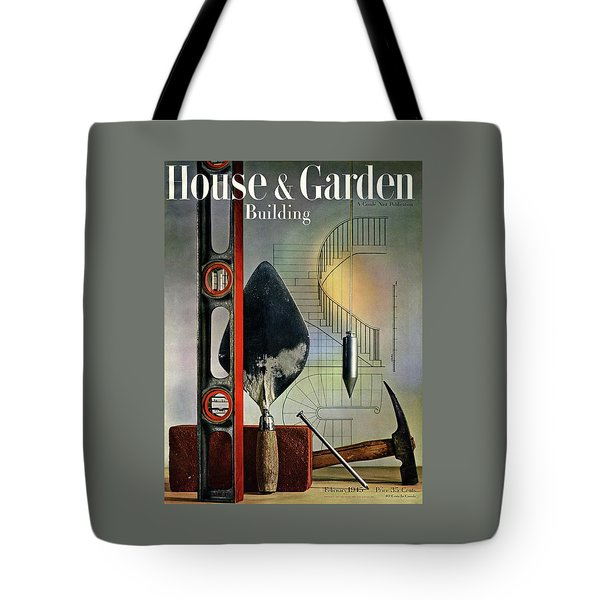 Building Tools Against Stairs Tote Bag