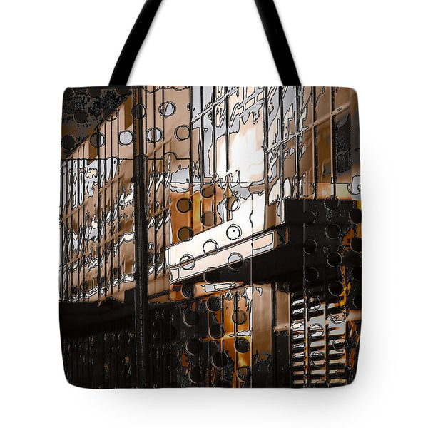Building With Shimmering Circles Tote Bag