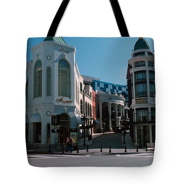 Buildings Along The Road, Rodeo Drive Tote Bag by Panoramic Images