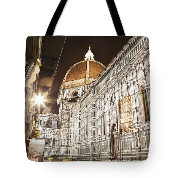 Buildings And Florence Cathedral Tote Bag