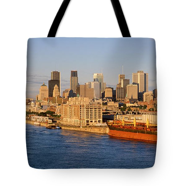 Buildings At The Waterfront, Montreal Tote Bag