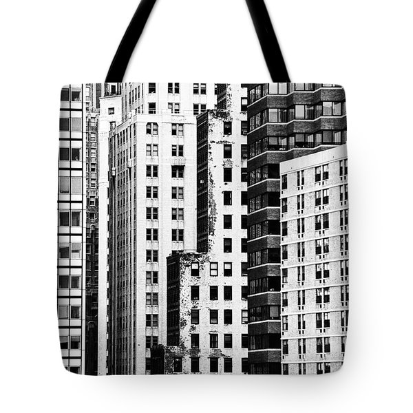 Buildings Bw Tote Bag by Bruce Bain