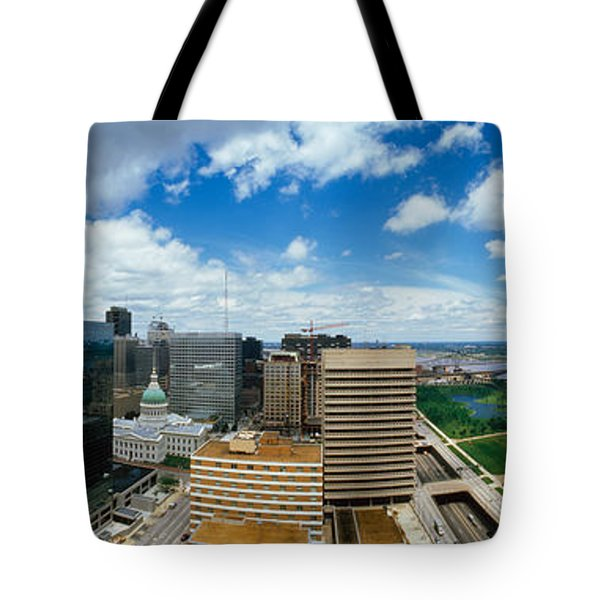 Buildings In A City, Gateway Arch, St Tote Bag