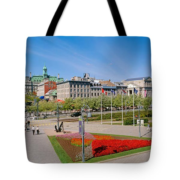 Buildings In A City, Place Jacques Tote Bag