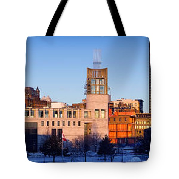 Buildings In Winter, Montreal, Quebec Tote Bag