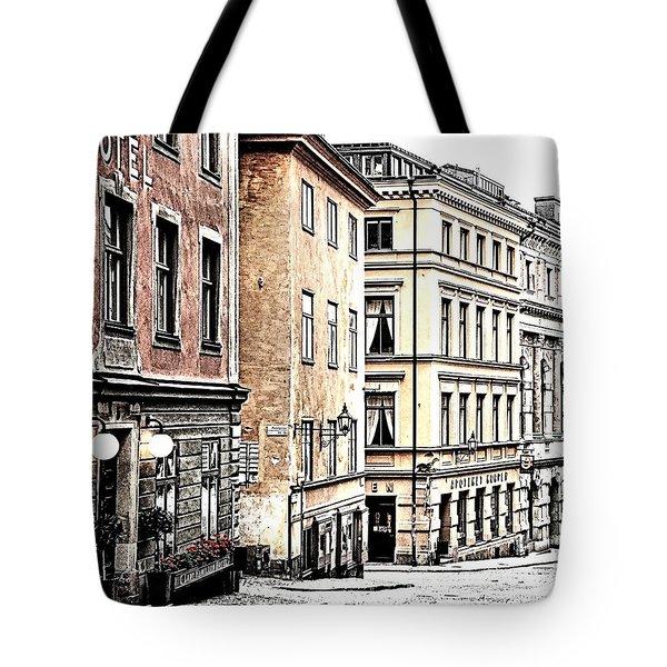 Buildings Of Gamla Stan Tote Bag