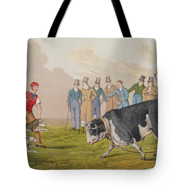 Bull Baiting Tote Bag by Henry Thomas Alken