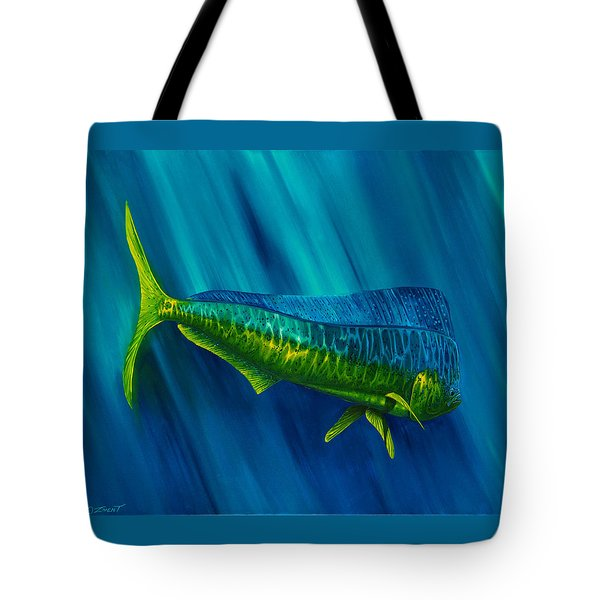Bull Dolphin Tote Bag