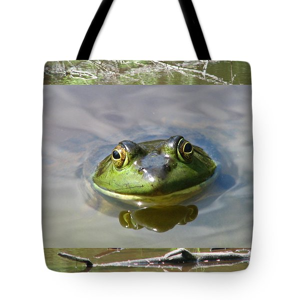 Bull Frog And Pond Tote Bag