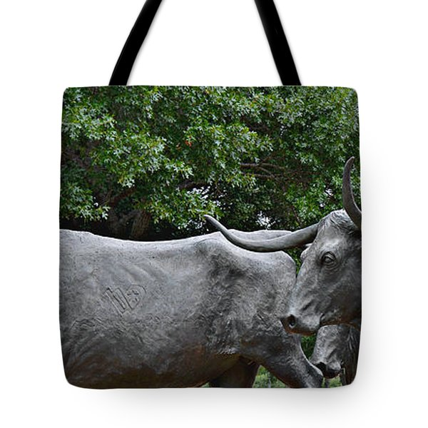 Bull Market Quadriptych 2 Of 4 Tote Bag by Christine Till