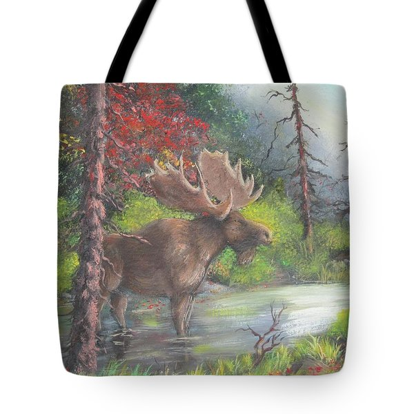 Bull Moose Tote Bag by Megan Walsh