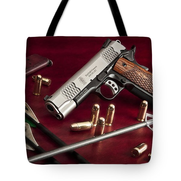 Bullets And Broadheads Tote Bag