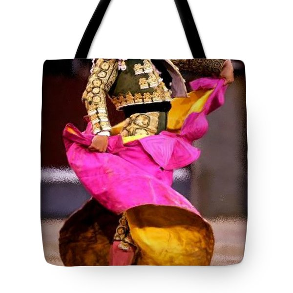 Bullfighter Dance Tote Bag by Bruce Nutting
