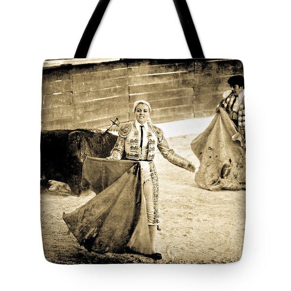 Tote Bag featuring the photograph Bullfighting Blond by Jennifer Wright