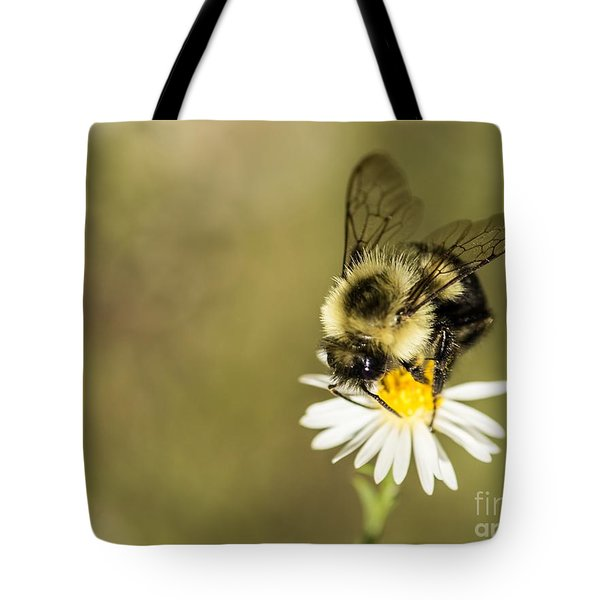 Bumble Bee Macro Tote Bag