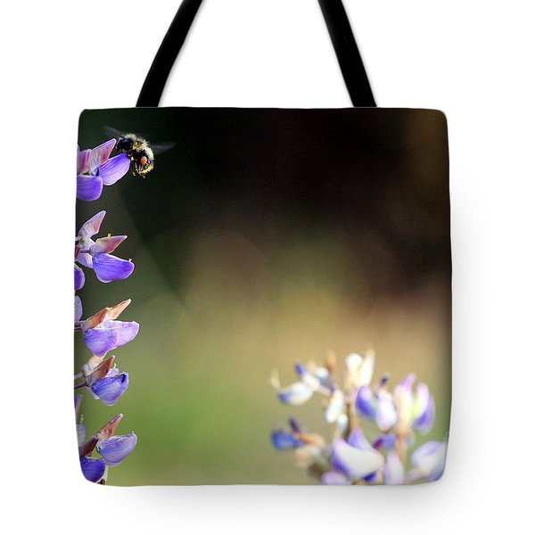 Bumble Bee On Lupine Tote Bag by Rich Collins