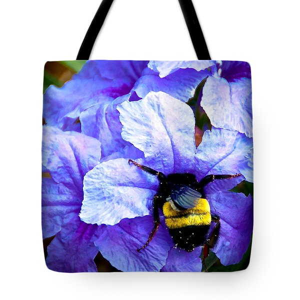 Tote Bag featuring the photograph Bumblebee Brunch by Dee Dee  Whittle