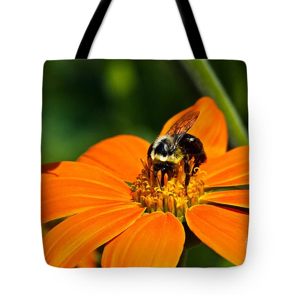 Bumblebee Hard At Work Tote Bag