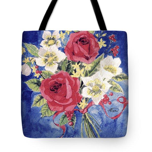 Bunch Of Flowers Tote Bag by Alban Dizdari