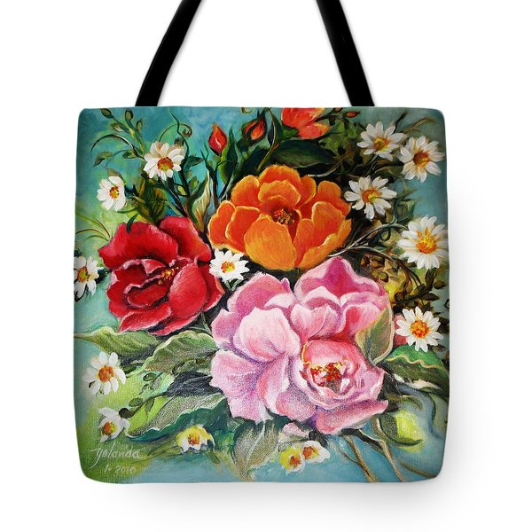 Bunch Of Flowers Tote Bag by Yolanda Rodriguez