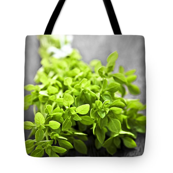 Bunch Of Fresh Oregano Tote Bag