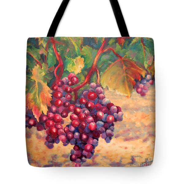 Bunch Of Grapes Tote Bag by Carolyn Jarvis