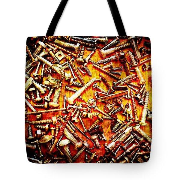 Bunch Of Screws 4 - Digital Effect Tote Bag by Debbie Portwood