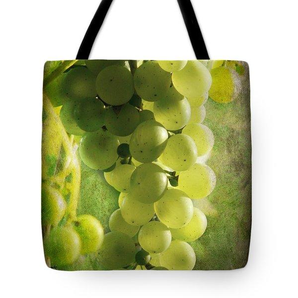 Bunch Of Yellow Grapes Tote Bag by Barbara Orenya