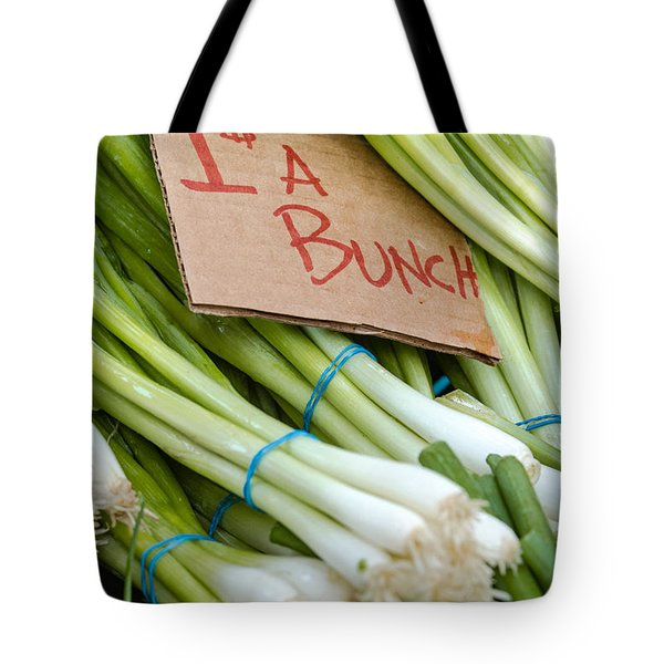 Bunches Of Onions Tote Bag by Teri Virbickis