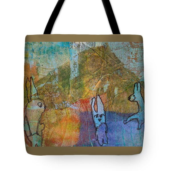 Bunny Ballet Tote Bag by Catherine Redmayne