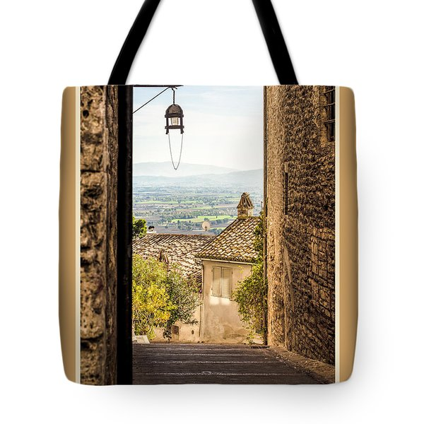 Buone Feste With Valley Outside Of Assisi Tote Bag
