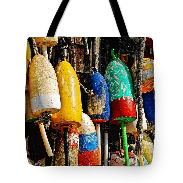 Buoys From Russell's Lobsters Tote Bag