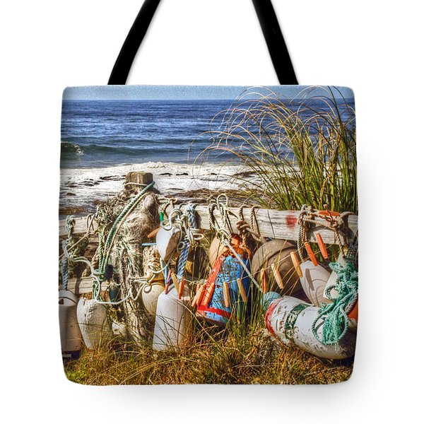 Tote Bag featuring the photograph Buoys by Geraldine Alexander