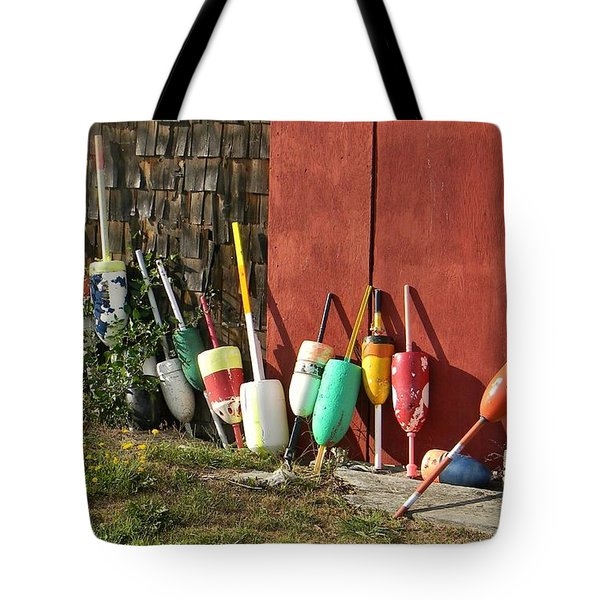 Buoys Tote Bag by Jean Goodwin Brooks