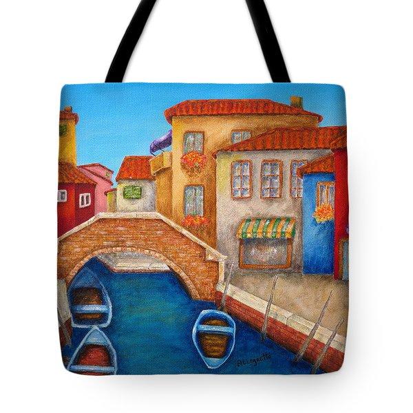 Burano Tote Bag by Pamela Allegretto