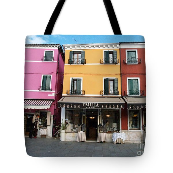 Tote Bag featuring the painting Burano by Robin Maria Pedrero