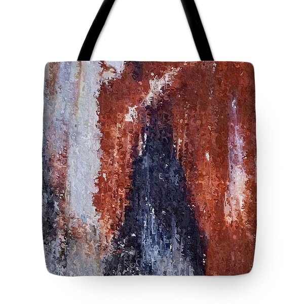 Tote Bag featuring the digital art Burgundy And Black by Heidi Smith